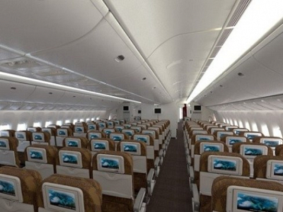 Interior Garuda Airlines